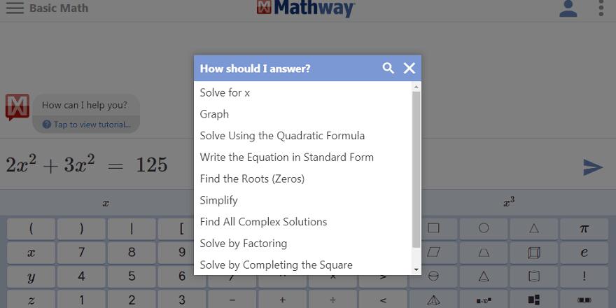 mathway app