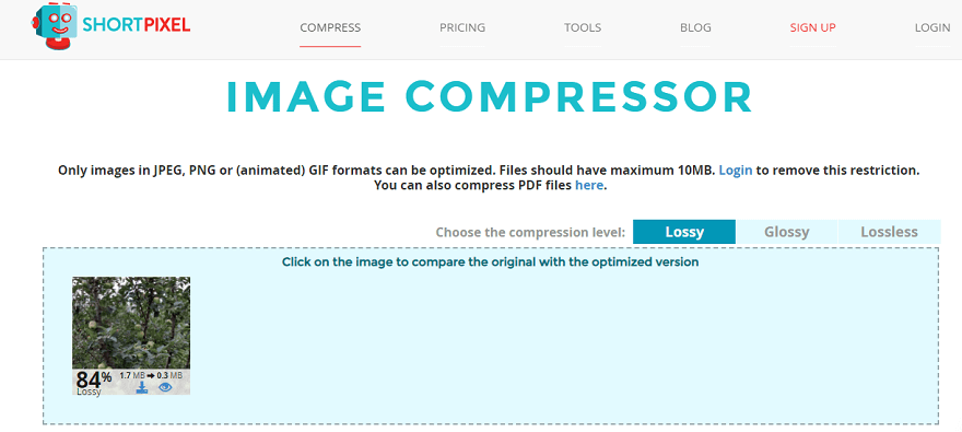 reduce image size in kb