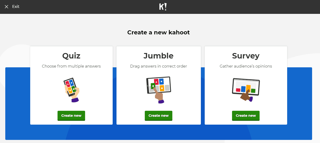 create kahoot quiz