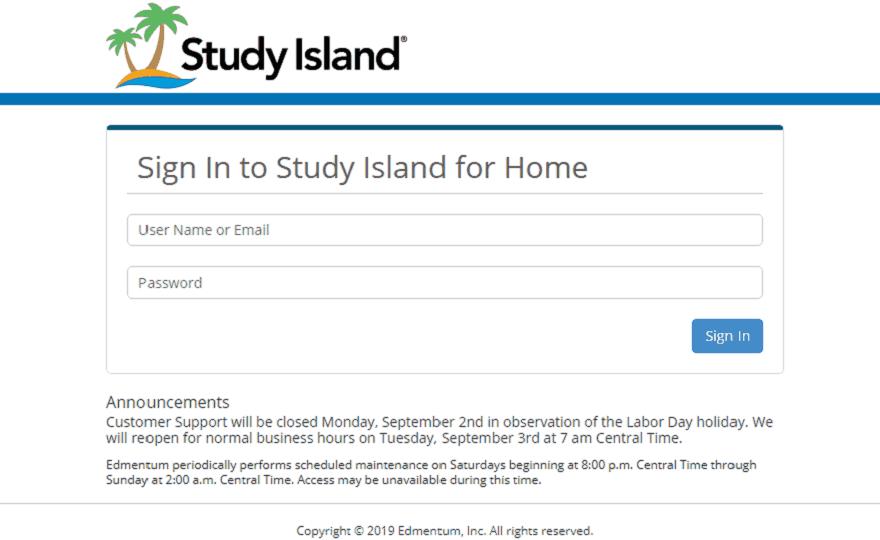 study island com login
