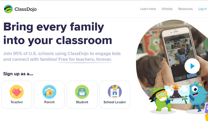 Class Dojo – Connect Teachers, Parents and Students