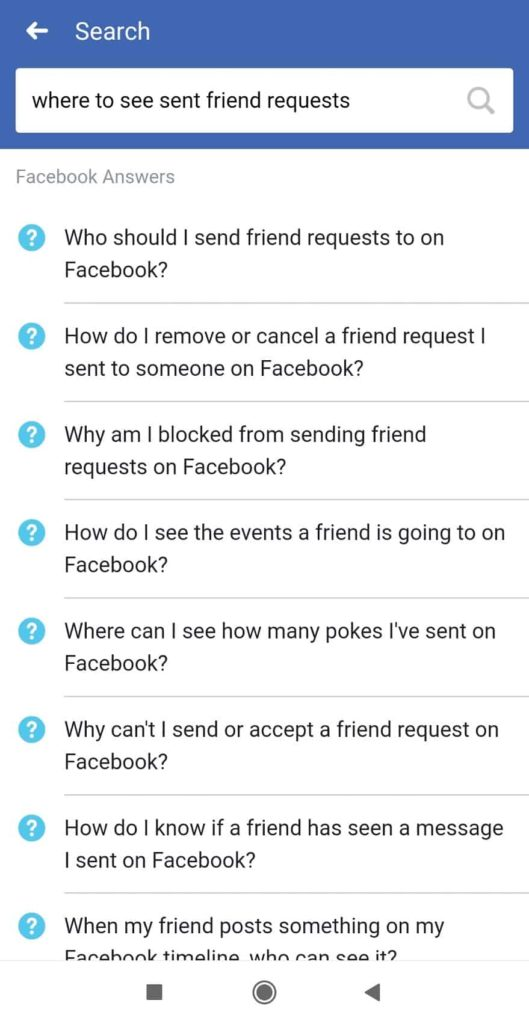 send requests on facebook