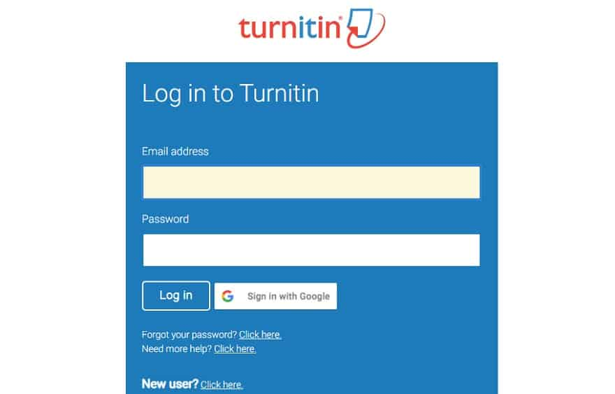 turnitin login