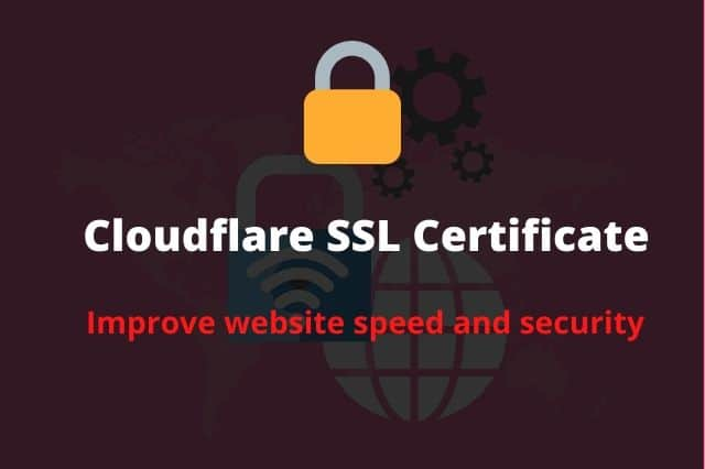 How to Setup a Cloudflare Free SSL and Cloudflare Page Rules