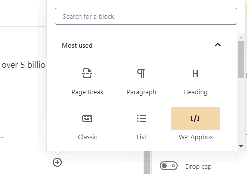 gutenberg editor features