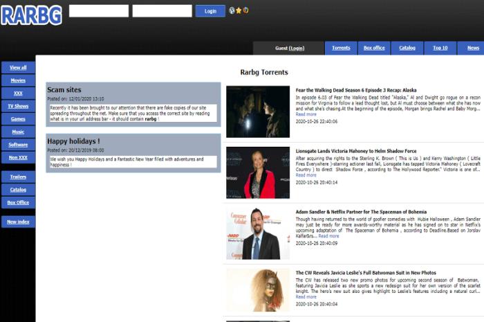 Rarbg Torrent Official Website and Mirror Links Unblock (Rarbg Proxy)