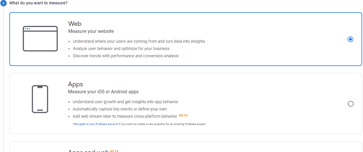 set up google analytics