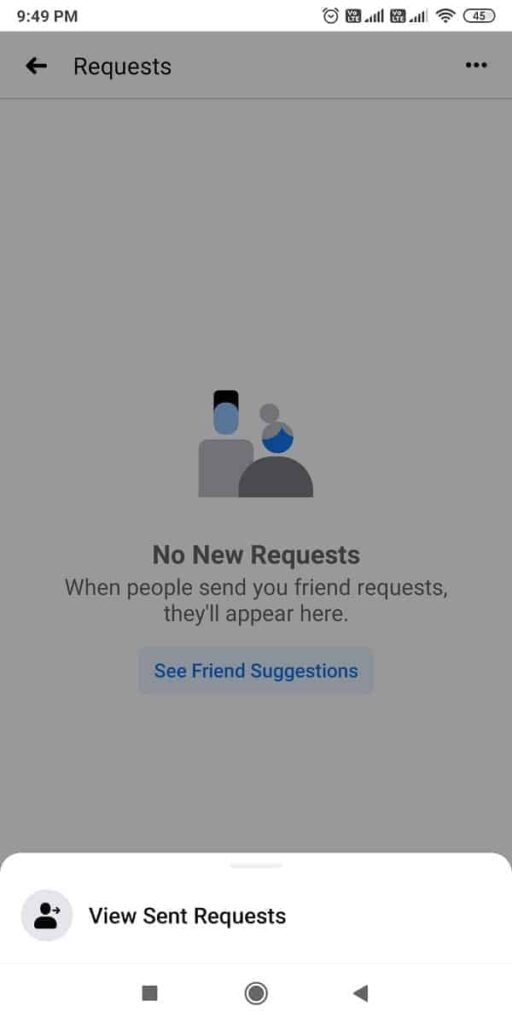 how to view sent requests on fb